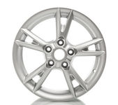 Aluminum alloy wheel isolated on white — Stock Photo