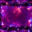 Christmas lights frame backdrop — Stock Photo