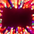 Blurred bokeh lights frame — Stock Photo
