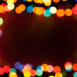 Stock Photo: Bokeh lights frame
