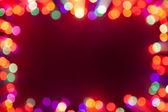 Bokeh festosa cornice di luci — Foto Stock