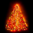 Christmas tree lights shape — Stock Photo