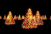 Рождественские деревья Боке огни — Стоковое фото