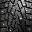 Stock Photo: Protector and snow spikes of winter tire
