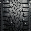 Stock Photo: Protector and snow spikes of winter tires