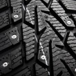 Protector and snow spikes of winter tire — Stock Photo