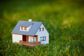 House on green — Stock Photo