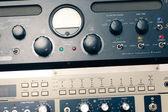 Professional audio equipment detail — Stock Photo
