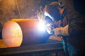 Welder at work — Stock Photo