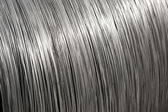 Aluminium wire spool texture — Photo