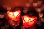非常に熱い蝋燭心 — ストック写真
