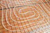 Water floor heating — Stock Photo