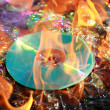Burning dvd — Stock Photo