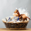 Gift in a basket — Stock Photo #24614853