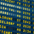 Departure - arrival information flight board at the airport — Stock Photo #26482583