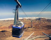 Mountain lift (funicular) at the top — Stock Photo