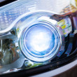 Stock Photo: Xenon headlamp optics