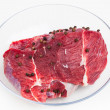 Stock Photo: Fresh raw meat, white background
