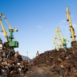 Scrap metal loading — Stock Photo