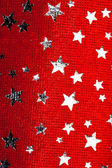 红色圣诞星星背景 — 图库照片