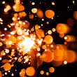 Bright christmas sparkler — Stock Photo