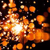 Bright christmas sparkler — Stock Photo