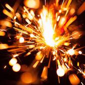 Colorful christmas sparkler — Stock Photo