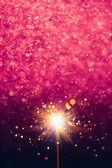 烟火紫色闪亮背景 — 图库照片