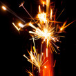 Firework sparkler, close-up view — 图库照片