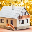 Festive house — Stock Photo