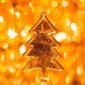 Christmas tree on shiny background — Foto de Stock