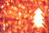 Christmas tree on shiny background — Foto Stock