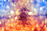 Christmas three on shiny background — Stock Photo