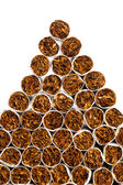 Cigarettes triangle heap — Stockfoto