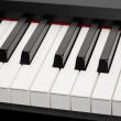 Grand piano ebony and ivory keys — Stock Photo #37734911