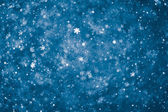 Abstract blue snowflakes background — Stock Photo