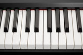Grand piano ebony and ivory keys — Stockfoto