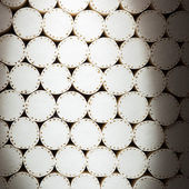 Abstract white filters of cigarettes — Stock Photo