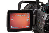 Video camera with screen — Stock Photo