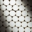 Stock Photo: Abstract white filters of cigarettes