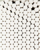 Abstract background of white filters of cigarettes — Stock Photo