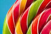 Colorful lollipop candy backdrop — Stockfoto
