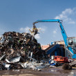 Stock Photo: Metal scrap loading machine