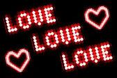 Láska zpráva — Stock fotografie