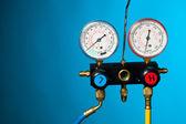 Tryck och temperatur kontroll mätare — Stockfoto