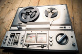 Reel to reel tape player and recorder — Zdjęcie stockowe