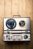 Reel to reel tape player and recorder — ストック写真