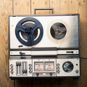 Reel to reel tape player and recorder — Стоковое фото