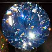 Big blue diamond, closeup view — Stock Photo