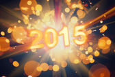 Happy new year 2015 postcard — Stock Photo